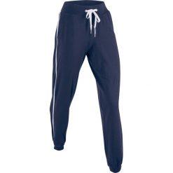Spodnie sportowe, długie, Level 1 bonprix ciemnoniebieski. Niebieskie spodnie dresowe damskie bonprix, w paski. Za 74,99 zł.