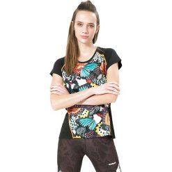 Bluzki sportowe damskie: Koszulka funkcyjna w kolorze czarnym ze wzorem