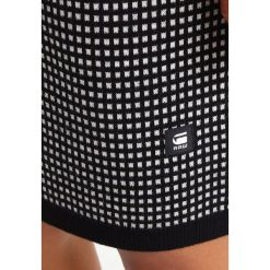 GStar ESTHOR JACQUARD  Sukienka dzianinowa dark black/ivory. Szare sukienki dzianinowe marki G-Star. W wyprzedaży za 519,20 zł.