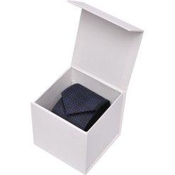 Krawaty męskie: KRAWAT MĘSKI ŻAKARDOWY W PUDEŁKU PREZENTOWYM