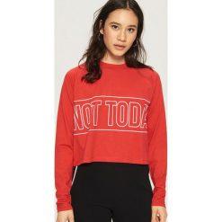 Bluzki damskie: Bluzka z nadrukiem - Czerwony