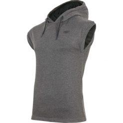 Bluzy męskie: Bluza z krótkim rękawem męska TSM028 – ciemny szary melanż