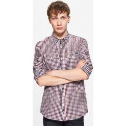Koszula w drobną kratę - Czerwony. Czerwone koszule męskie marki Cropp, l. Za 69,99 zł.