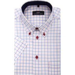 Koszula SERGIO slim 13-05-05. Czerwone koszule męskie slim Giacomo Conti, m, z bawełny, button down, z krótkim rękawem. Za 149,00 zł.