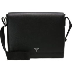 Torby na ramię męskie: Serapian EVOLUTION SMALL MESSANGER WITH FLAP Torba na ramię black