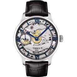 RABAT ZEGAREK TISSOT Chemin Des Tourelles Skeleton T099.405.16.418.00. Czarne zegarki męskie TISSOT, ze stali. W wyprzedaży za 6419,60 zł.