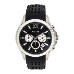 """Zegarek """"11110597"""" w kolorze czarno-srebrnym. Czarne, analogowe zegarki męskie Dugena & Nautec No Limit, srebrne. W wyprzedaży za 179,95 zł."""