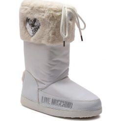 Śniegowce LOVE MOSCHINO - JA24062G06JM0100 Bianco. Białe buty zimowe damskie marki Love Moschino, z materiału. Za 659,00 zł.