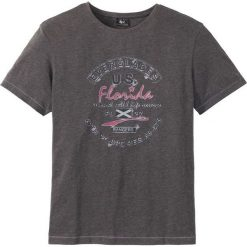 T-shirty męskie: T-shirt Regular Fit bonprix antracytowy melanż
