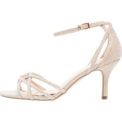 Paradox London Pink MAJESTY Sandały gold glitter. Białe sandały damskie marki Paradox London Pink, z materiału. Za 379,00 zł.