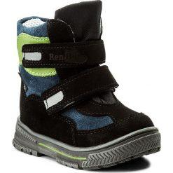 Buty zimowe chłopięce: Śniegowce RENBUT – 12-1463 Czarny Zielony