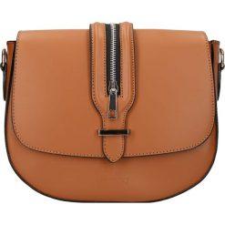 """Torebki klasyczne damskie: Skórzana torebka """"Seine"""" w kolorze karmelowym – 25 x 20 x 6,5 cm"""