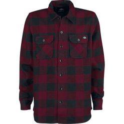 Dickies Sacramento Koszula bordowy/czarny. Szare koszule męskie na spinki marki Dickies, na zimę, z dzianiny. Za 199,90 zł.