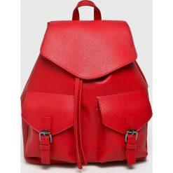 Pieces - Plecak Tyler. Czerwone plecaki damskie Pieces, ze skóry ekologicznej. Za 169,90 zł.