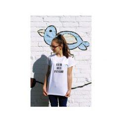 T-shirt CUTE BUT PSYCHO. Białe t-shirty damskie Funfara, s, z bawełny. Za 79,00 zł.