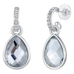 Kolczyki damskie: Kolczyki ze szklanymi kryształkami i kryształkami Swarovski