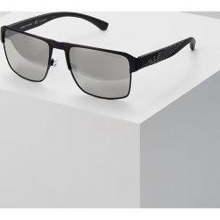 Emporio Armani Okulary przeciwsłoneczne matte black. Czarne okulary przeciwsłoneczne męskie wayfarery Emporio Armani. Za 649,00 zł.
