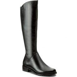 Oficerki EDEO - 2206-741 Czarny. Czarne buty zimowe damskie Edeo, ze skóry. W wyprzedaży za 339,00 zł.