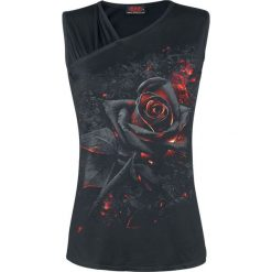 Bluzki, topy, tuniki: Spiral Burnt Rose Top damski czarny