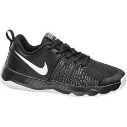 Buty dziecięce Nike Team Hustle Quick Gs NIKE czarno-białe. Białe buciki niemowlęce chłopięce Nike, z gumy. Za 179,90 zł.