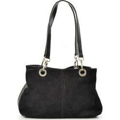 """Torebki klasyczne damskie: Skórzana torebka """"Giselle"""" w kolorze czarnym – 30 x 20 x 12 cm"""