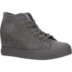 Szare sneakersy trampki sznurowane na koturnie Big Star BB274091. Szare sneakersy damskie BIG STAR. Za 98,99 zł.