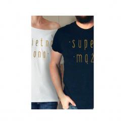 Świetna żona super mąż koszulki tshirt dla pary. Czarne t-shirty damskie One mug a day, m. Za 165,00 zł.