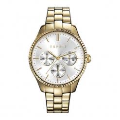 """Zegarek """"ES108942002"""" w kolorze złoto-srebrnym. Szare, analogowe zegarki damskie NIXON & ESPRIT, srebrne. W wyprzedaży za 419,95 zł."""