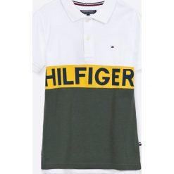 Tommy Hilfiger - T-shirt dziecięcy 128-176 cm. Szare t-shirty męskie z nadrukiem marki TOMMY HILFIGER, z bawełny. W wyprzedaży za 249,90 zł.