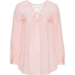 Bluzki asymetryczne: Bluzka z ozdobnym sznurowaniem na plecach bonprix perłowy jasnoróżowy