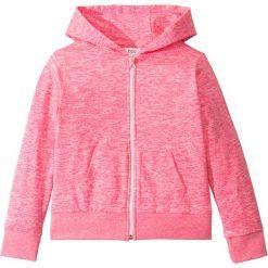 Odzież dziecięca: Bluza  rozpinana melanżowa bonprix różowy melanż