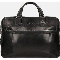 Czarna torba męska. Czarne torby na laptopa marki Kazar, w paski, ze skóry. Za 949,00 zł.