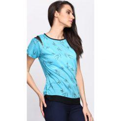 Niebieski T-shirt Suit & Tie. Niebieskie bluzki damskie Born2be, m. Za 9,99 zł.