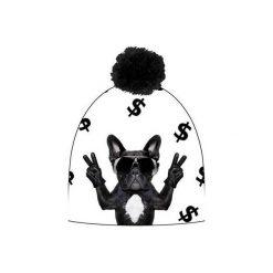 Czapka hauer DOLLAR DOG. Czarne czapki zimowe damskie marki Hauer, z nadrukiem, z polaru. Za 69,00 zł.