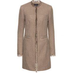 Płaszcz boucle bonprix brunatny. Brązowe płaszcze damskie bonprix, z haftami. Za 124,99 zł.