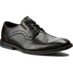 Buty męskie: Półbuty CLARKS - Prangley Walk 261232547 Black Leather