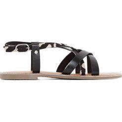 Rzymianki damskie: Skórzane sandały PONYTA