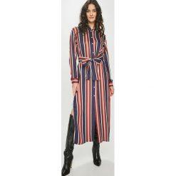 Answear - Sukienka Nomad. Czarne długie sukienki ANSWEAR, na co dzień, l, z tkaniny, casualowe, z długim rękawem, proste. Za 229,90 zł.