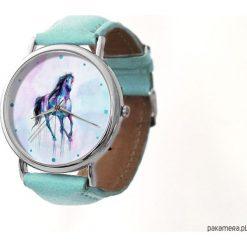 Zegarek z dużą tarczką Koń - 982. Szare zegarki damskie Pakamera. Za 120,00 zł.