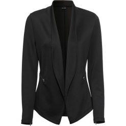 Żakiet shirtowy bonprix czarny. Czarne marynarki i żakiety damskie bonprix. Za 149,99 zł.