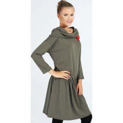 Sukienka - 30-87147 MILI. Zielone sukienki hiszpanki Unisono, l, z bawełny, z kapturem. Za 89,00 zł.