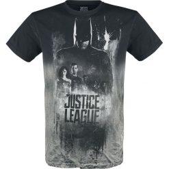 T-shirty męskie z nadrukiem: Justice League Shadow T-Shirt szary