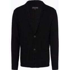 Finshley & Harding - Kardigan męski, niebieski. Czarne swetry rozpinane męskie marki Finshley & Harding, w kratkę. Za 349,95 zł.