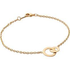 Bransoletki damskie: Pozłacana bransoletka z elementem ozdobnym