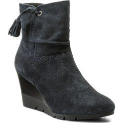 Botki LASOCKI - A205W Granatowy. Niebieskie buty zimowe damskie Lasocki, ze skóry, na obcasie. W wyprzedaży za 115,00 zł.