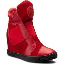 Sneakersy damskie: Sneakersy ROBERTO – 528/D Czerw. Lico/Czerw. Welur