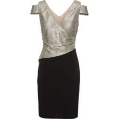 Sukienka wieczorowa bonprix czarno-złoty. Czarne sukienki koktajlowe marki bonprix. Za 129,99 zł.