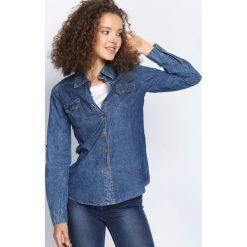 Ciemnoniebieska Koszula Jeansowa Youth. Szare koszule jeansowe damskie marki Born2be, z długim rękawem. Za 49,99 zł.