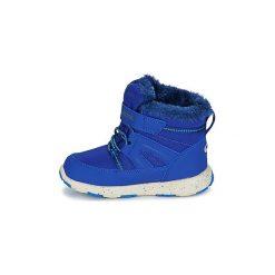 Śniegowce Dziecko Kangaroos  K-SNOW. Niebieskie buty zimowe chłopięce marki KangaROOS. Za 175,20 zł.