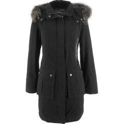 Płaszcz z haftem bonprix czarny. Czarne płaszcze damskie bonprix, z haftami. Za 269,99 zł.